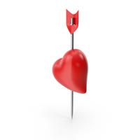 Heart Arrow Pin PNG & PSD Images