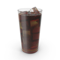 Glass With Cola and Ice PNG & PSD Images
