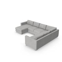 Scandinavian Sectional Sofa PNG & PSD Images