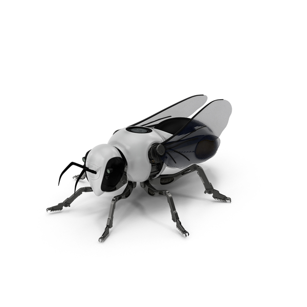 Sci-fi Robotic Bee PNG & PSD Images
