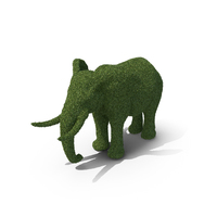Topiary Elephant PNG & PSD Images