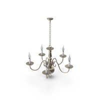 Sea Gull Traditional 5 Light Brushed Nickel Chandelier PNG & PSD Images