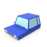 Blue Cartoon Car PNG & PSD Images