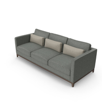 Dark Contemporary 3 Seater Sofa PNG & PSD Images