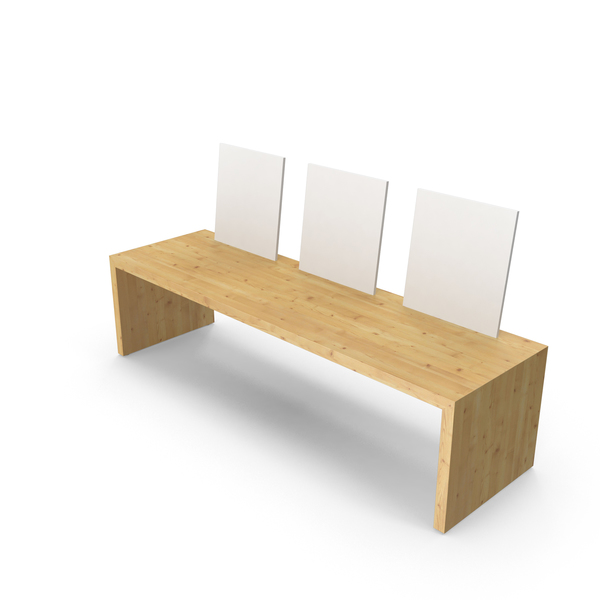 Wooden White Bench PNG & PSD Images