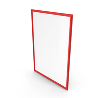 Picture Frame Red PNG & PSD Images