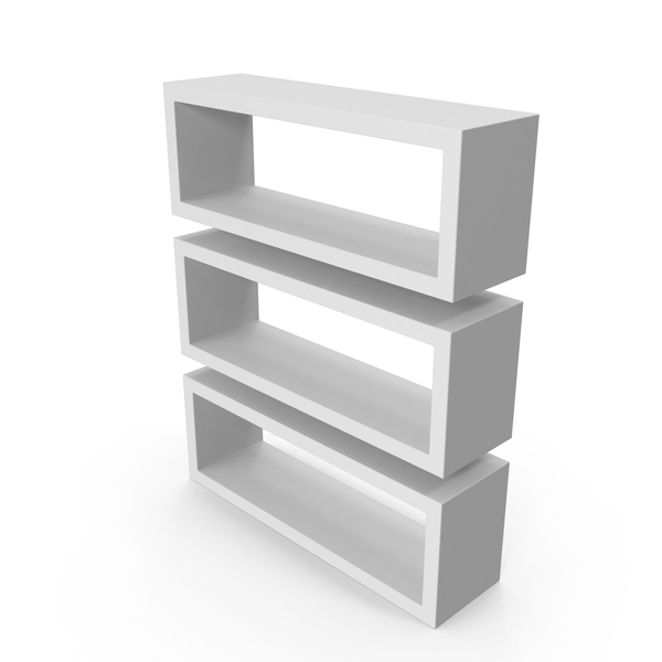 Straight Shelves White PNG & PSD Images