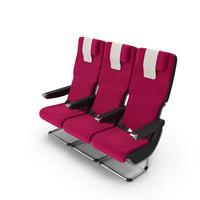 Qantas A380 Aircraft Economy Seat PNG & PSD Images