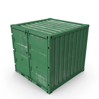 8 ft Storage Container Green PNG & PSD Images