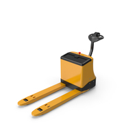 Powered Pallet Jack Yellow PNG & PSD Images