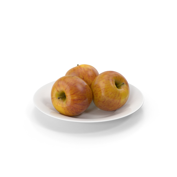 Plate with Apples PNG & PSD Images