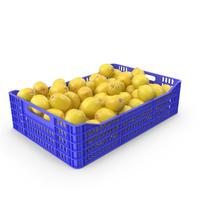Lemon Plastic Crate PNG & PSD Images