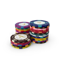 Stacks of Poker Chips PNG & PSD Images