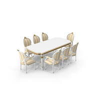 Angelo Cappellini Cezanne Dining Table & Chairs Set PNG & PSD Images