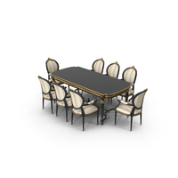 Angelo Cappellini Cezanne Dining Room Set PNG & PSD Images