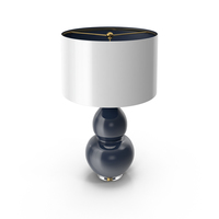 Pop Color Modern Ceramic Table Lamp Navy PNG & PSD Images