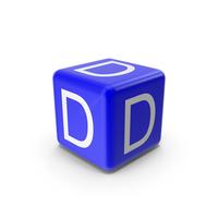 Blue D Block PNG & PSD Images