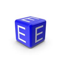 Blue E Block PNG & PSD Images