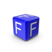 Blue F Block PNG & PSD Images