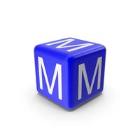 Blue M Block PNG & PSD Images