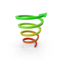 Abstract Arrow Riseup Spiral PNG & PSD Images