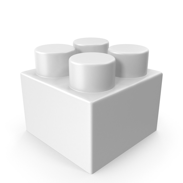 White Toy Brick PNG & PSD Images
