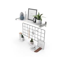 Designer Shelf Set PNG & PSD Images