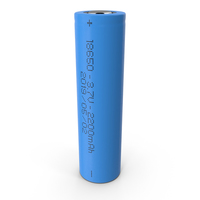Li-Ion Battery 18650 PNG & PSD Images