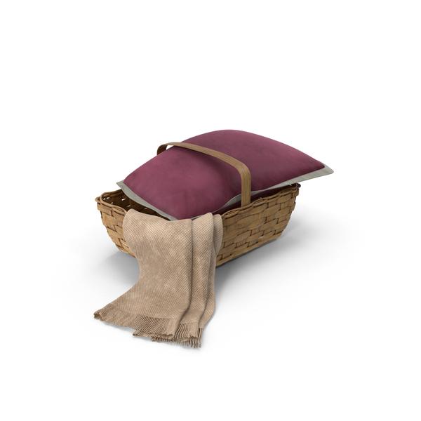 Basket Wtih Pillow PNG & PSD Images