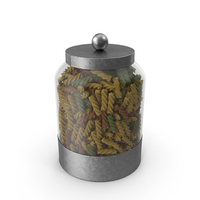 Glass Pasta Canister PNG & PSD Images