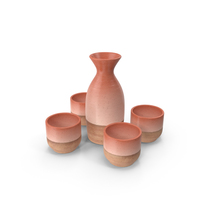 Sake Set PNG & PSD Images