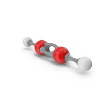 Acetylene Molecular Model PNG & PSD Images