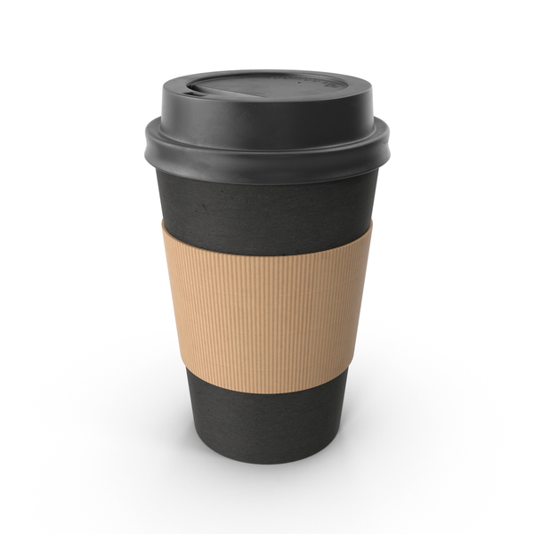 Black Paper Coffee Cup PNG & PSD Images