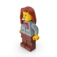 Lego Woman Stewardess PNG & PSD Images