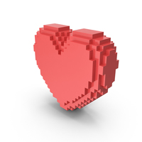 Solid Pixelated Heart PNG & PSD Images