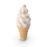 Soft Serve Ice Cream Cone PNG & PSD Images