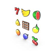 Video Slot Machine Symbols PNG & PSD Images