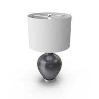 Gunmetal Metallic Ovo Table Lamp PNG & PSD Images