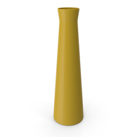 Vase Glossy Yellow PNG & PSD Images