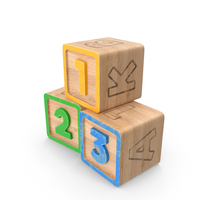 123 Blocks PNG & PSD Images