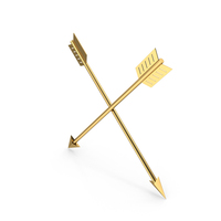 Gold Arrows Crossed PNG & PSD Images