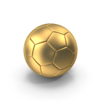 Golden Soccer Ball PNG & PSD Images