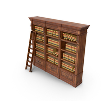 Shelf with Law Books PNG & PSD Images