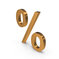Gold Percent PNG & PSD Images