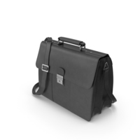 Black  Visconti Visconti Apollo Oil Tanned Leather Briefcase PNG & PSD Images