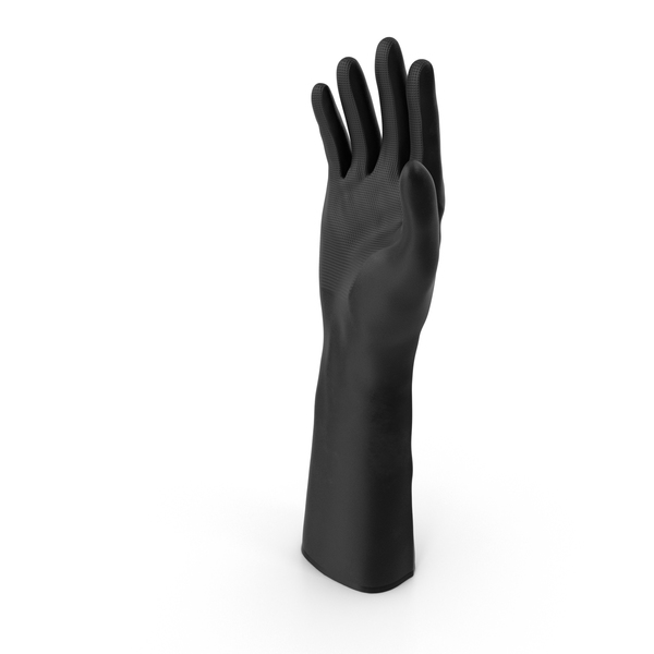 Large Black Rubber Lab Glove PNG & PSD Images