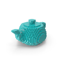 Teapot Volume Pixelated Solid PNG & PSD Images