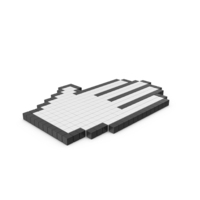 Palm Pixelated Cursor Interface PNG & PSD Images
