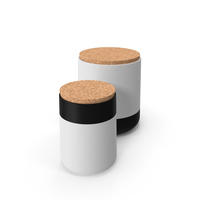 Black White Canisters PNG & PSD Images