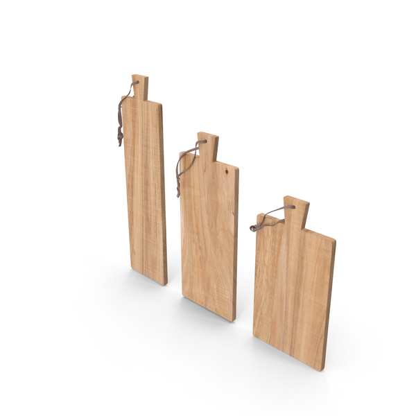 Cutting Boards Teak Set PNG & PSD Images